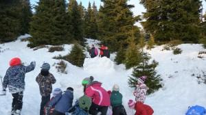 Dobývání sněhového hradu