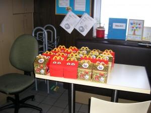 Pro děti byly připraveny i dárečky