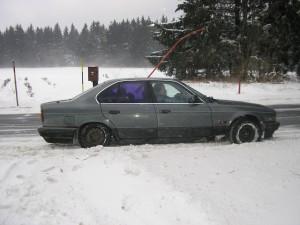 Takto to vypadalo po cestě do Karlova na zimní hry rodinného společenství VeLeBa