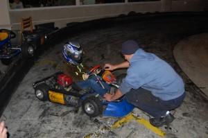 Příprava závodníků a krátká instruktáž