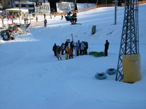 Druhý den na snow tubbingu