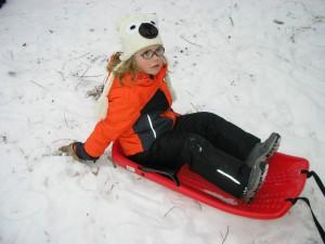 Malá Viki udělala pár kotrmelců, tak už se jí potom moc nechtělo do další jízdy