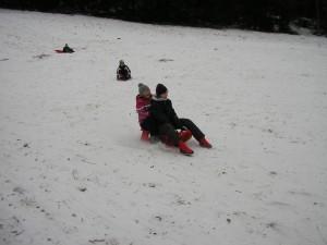 I když nebylo dost sněhu, tak to stejně jezdilo celkem rychle